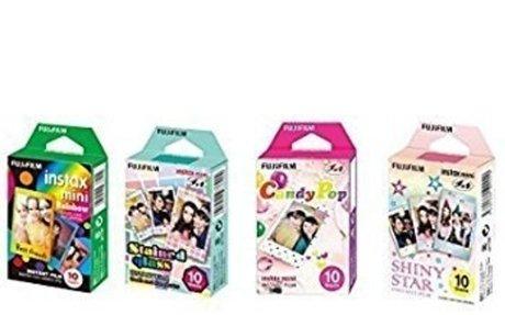 Amazon.com : Fujifilm InstaX Mini Instant Film Rainbow & Staind Glass & Candy Pop & SHINY