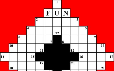 9. The World's First Crossword Puzzle