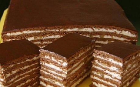 Csokoládés szelet dióval és mézzel