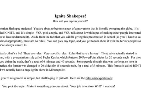 Ignite Project Packet