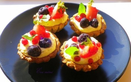 Őszibarackkrémes gyümölcsös tartelette | NOSALTY