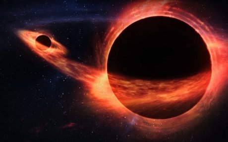 When One Black Hole Eats Another... Look Out