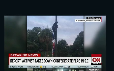 Bree Newsome hailed for removing Confederate flag - CNNPolitics