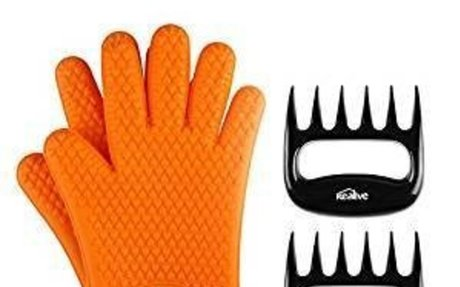 Amazon.com : Kealive BBQ Silicone Gloves, Meat Claws, Basting Brush Grill Tool Set ( 5 Pie