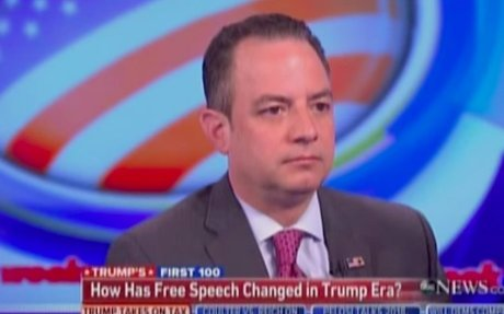 Reince Priebus admits Trump administration has looked into changing the First Amendment