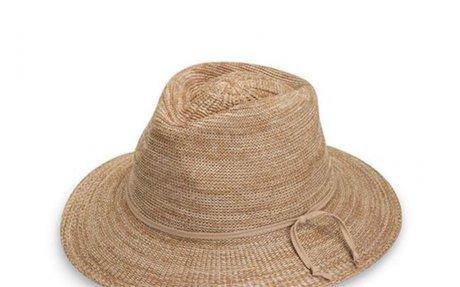 Wallaroo Hat Company Women's Victoria Diva Sun Hat- Packable Straw Hat, Black: