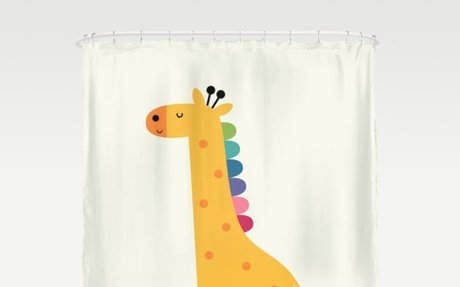 Giraffe Piano Shower Curtain