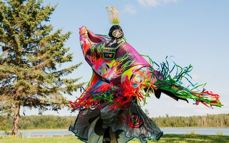 this is ojibwe doing the mother nature dance