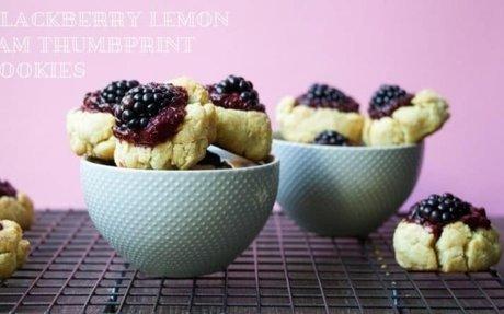 Paleo Blackberry Jam Thumbprint Cookies !