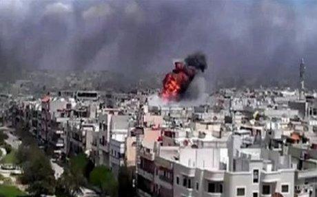 قصف منطقة الزبداني