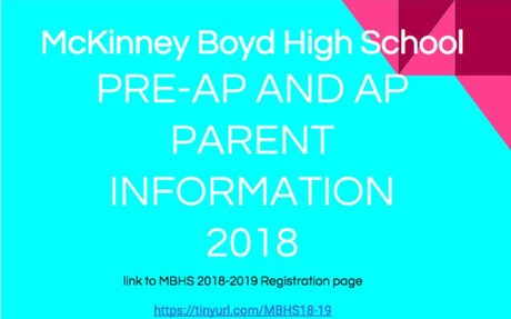 PreAP and AP Parent Information 2018