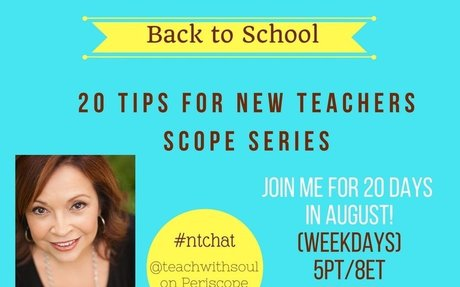 Twenty Tips for Success for New Teachers #ntchat