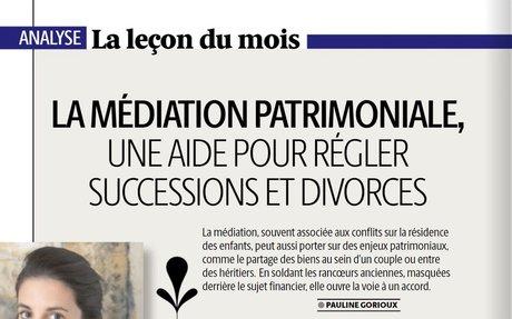 La médiation patrimoniale, une aide pour régler successions et divorces - Cabinet de média