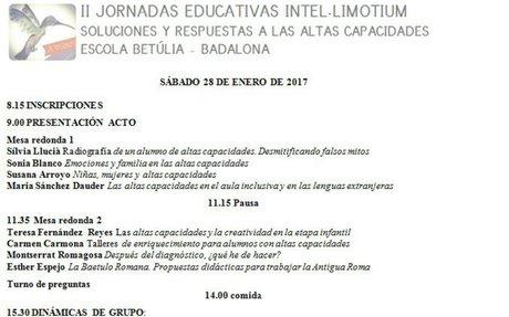 JORNADAS INTEL·LIMOTIUM - 28 DE ENERO 2017
