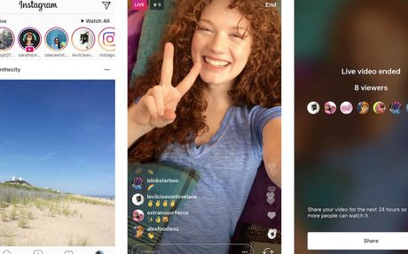 Instagram Stories hits 250M daily users, adds Live video replays