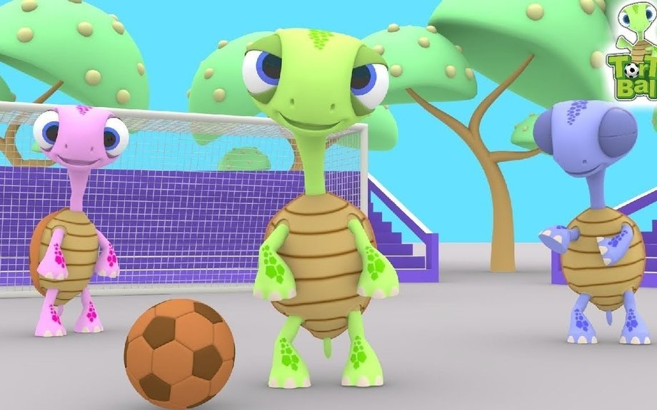 Fun Turtles Soccer Ball Wrong Take the Ball Funny Story For Children and Kids by Torto Bal