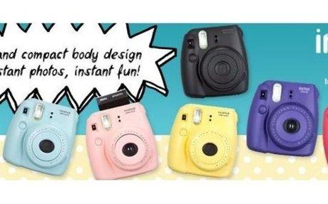 Amazon.com : Fujifilm INSTAX Mini 8 Instant Camera (Blue) : Polaroid Camera : Camera & Pho