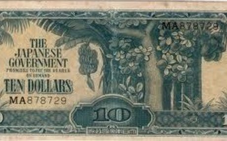 Currency during the Japanese occupation- Daily life