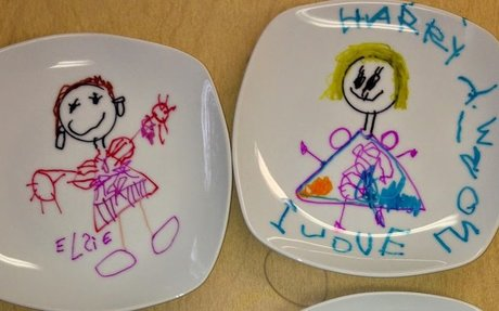 Breakfast in Bed for Mommy … on a very special plate!