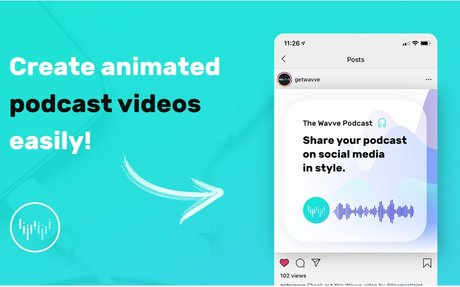 Wavve turns audio from your #podcast , #radio show, #music , & more, into custom videos