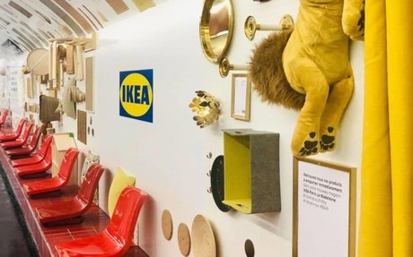 BRAND HIGHLIGHTS // Ikea Turned A Paris Subway Station Into A Showroom, And It's Glorious