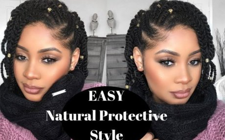 Easy Natural Hair Protective Style | Side Flat Twist | Two Strand Twist Tutorial