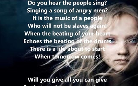 STUDENT Song of the French Revolution film Les Miserables
