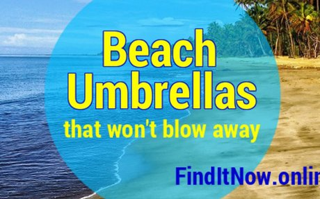 Sturdy Beach Umbrellas that Won't Blow Away in the Wind