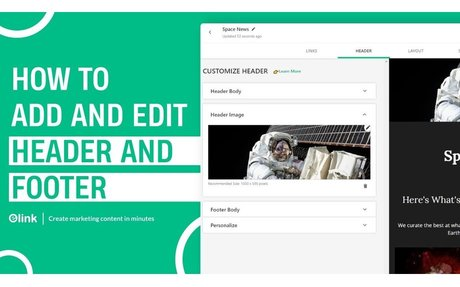 How to Add a Header & Footer