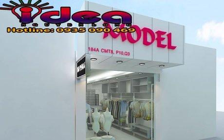 Mẫu bảng hiệu shop thời trang quần áo đẹp - Thiết kế in ấn bảng hiệu