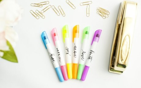 Highlighters that WON'T bleed through thin Bible pages!