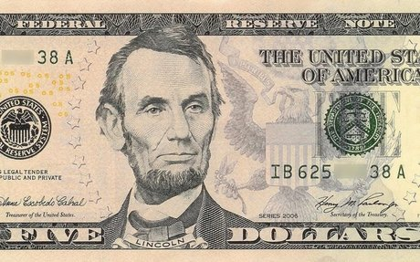 4. United States five-dollar bill