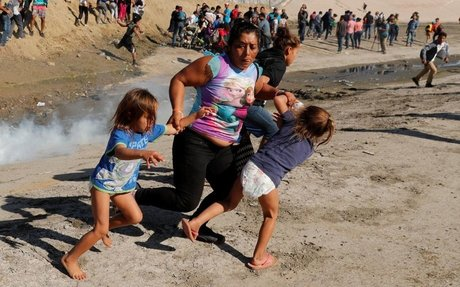 'These children are barefoot. In diapers. Choking on tear gas.'