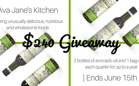 $240 Ava Jane's Kitchen Avocado Oil Giveaway - Paleo Epic