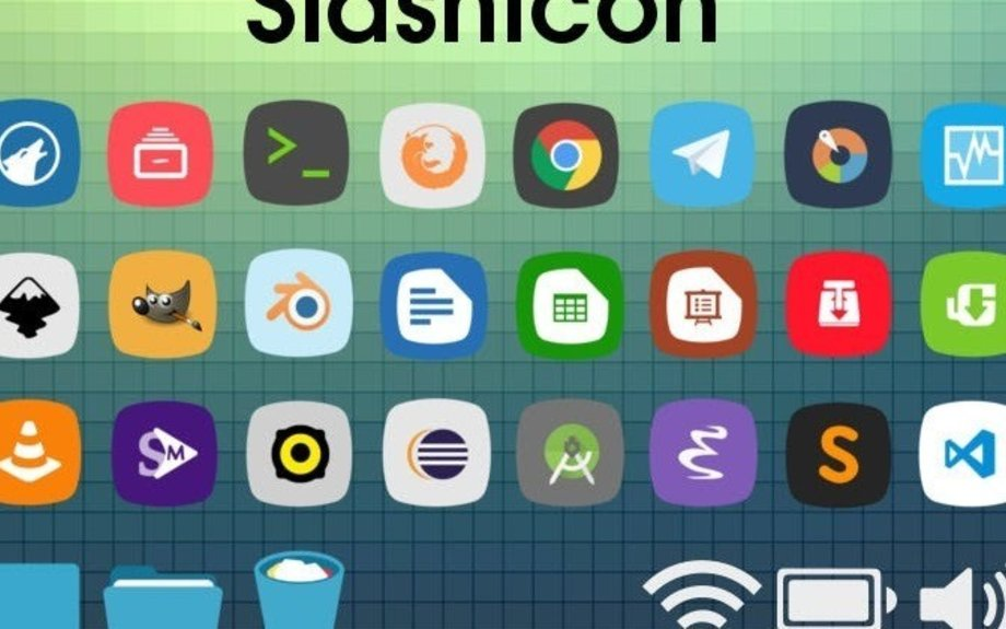 SlashIcon 1.1.0 Icon Theme, Available For Ubuntu and Linux Mint