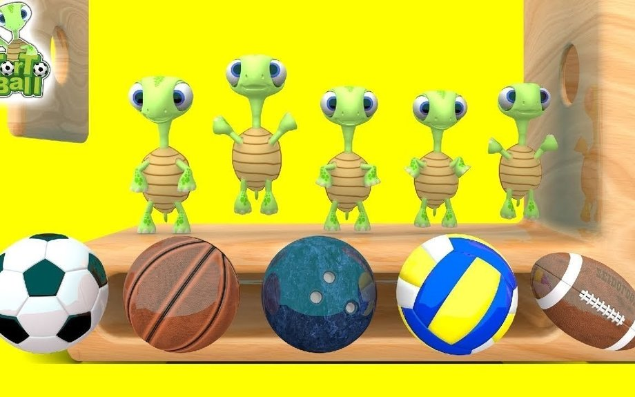 LEARN BALLS Ladder Turtles Soccer Basketball Learn Sport Balls For Children and Kids | Tor