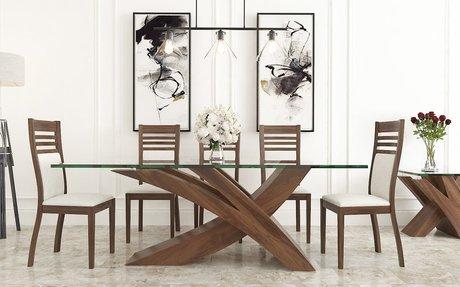 Mesa Picasso con Sillas con Respaldo en Rauli