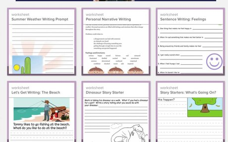 Writing Stories Worksheets & Free Printables | Education.com