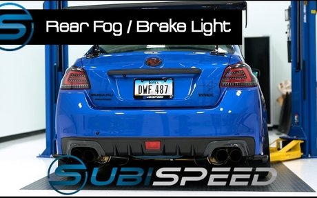 Subispeed - Rear Fog / Brake Light Overview