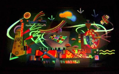 Wassily Kandinsky video mapping projection SKRILLEX version