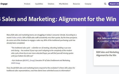B2B Sales And Marketing: Alignment For The Win #SalesAndMarketing