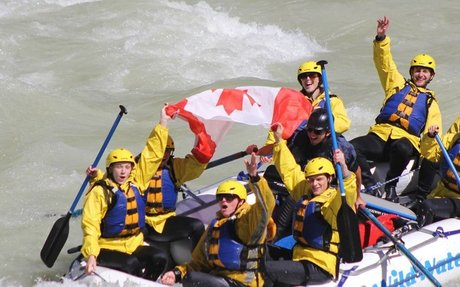 Rafting on Kicking Horse River