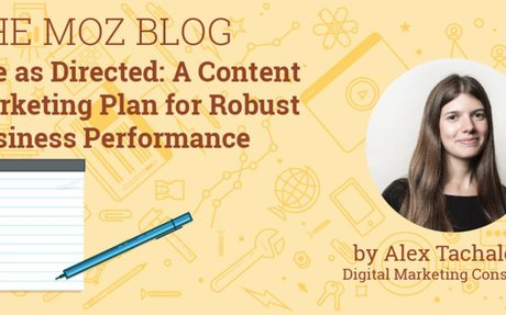 Use as Directed: A Content Marketing Plan for Robust Business Performance