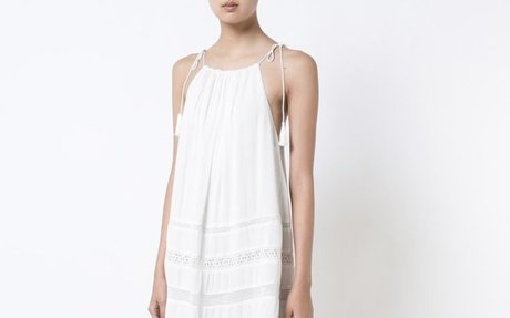 NWT $285 ALICE+OLIVIA  Women's White Tie Strap Tank Lace Trim Sun Dress Sz Med  | eBay