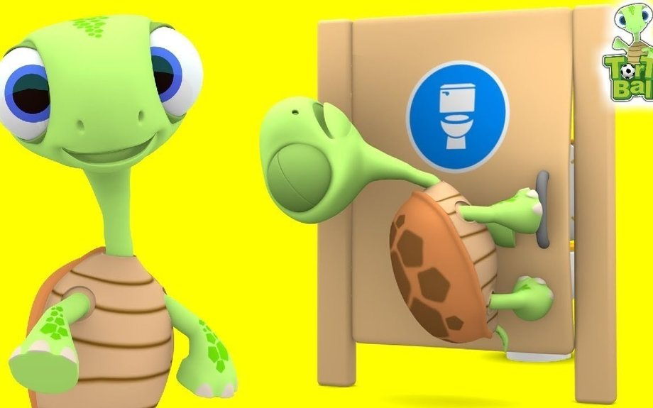 Turtle Misunderstanding Opening Toilet Funny Cartoon Animation For Children and Kids | Tor