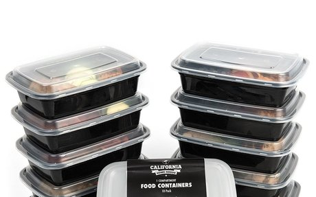 Food Containers 3 Compartment  with Lids, Set of 10 - CDN$ 17.95 & FREE Shipping
