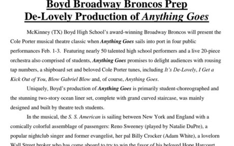 Boyd Broadway Broncos Show: Anything Goes