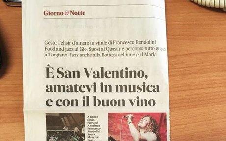 è San Valentino, amatevi in musica e co il buon vino