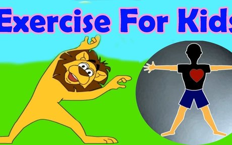 Exercises for different parts of the body, Jumping, Stretching, Aerobics, Funny Game for K