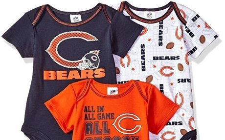 Amazon.com : Gerber Childrenswear NFL All Season Variety Bodysuit (3 Pack) : Sports & Outd